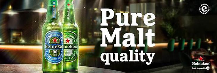 Heineken 0.0. Great Taste. Zero Alcohol