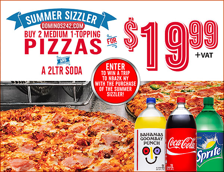 Summer Sizzler Buy 2 Medium 1-Topping Pizza For $19.99!
