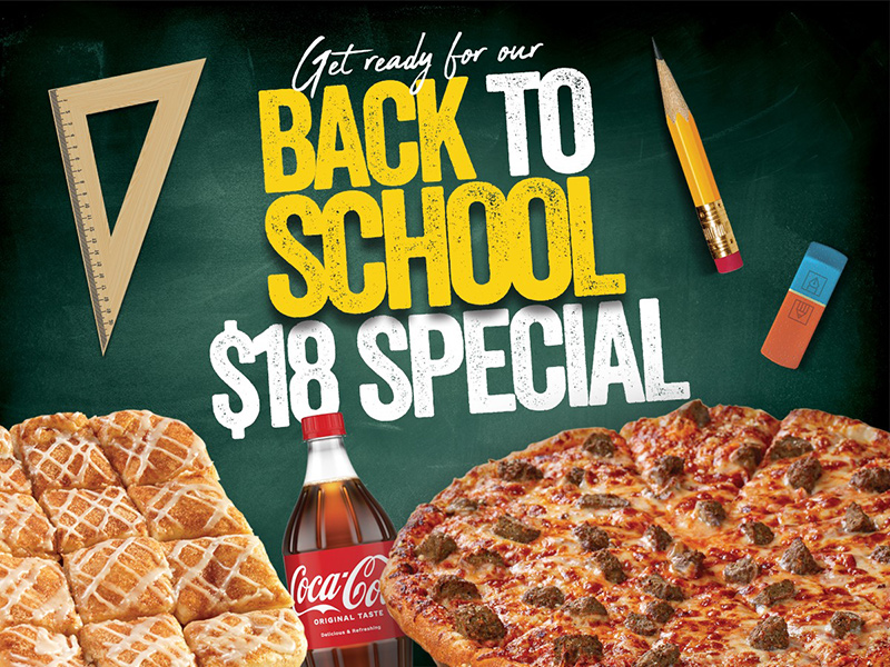 Marco's Pizza – Back To School $18 Special Promo