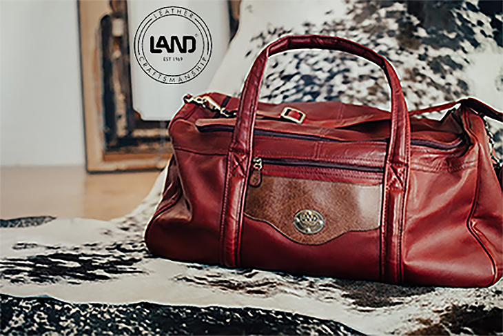 LAND Santa Fe - San Fran Duffel - We are all looking forward to traveling again - Let's do it in style At Brass and Leather