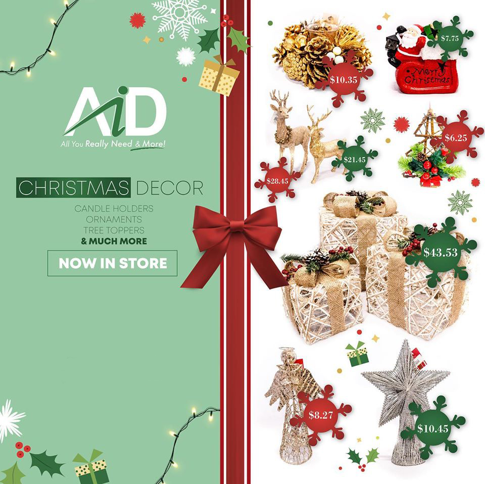 We've got you cover with a wide selection of Christmas decor, shower curtains and bedding.