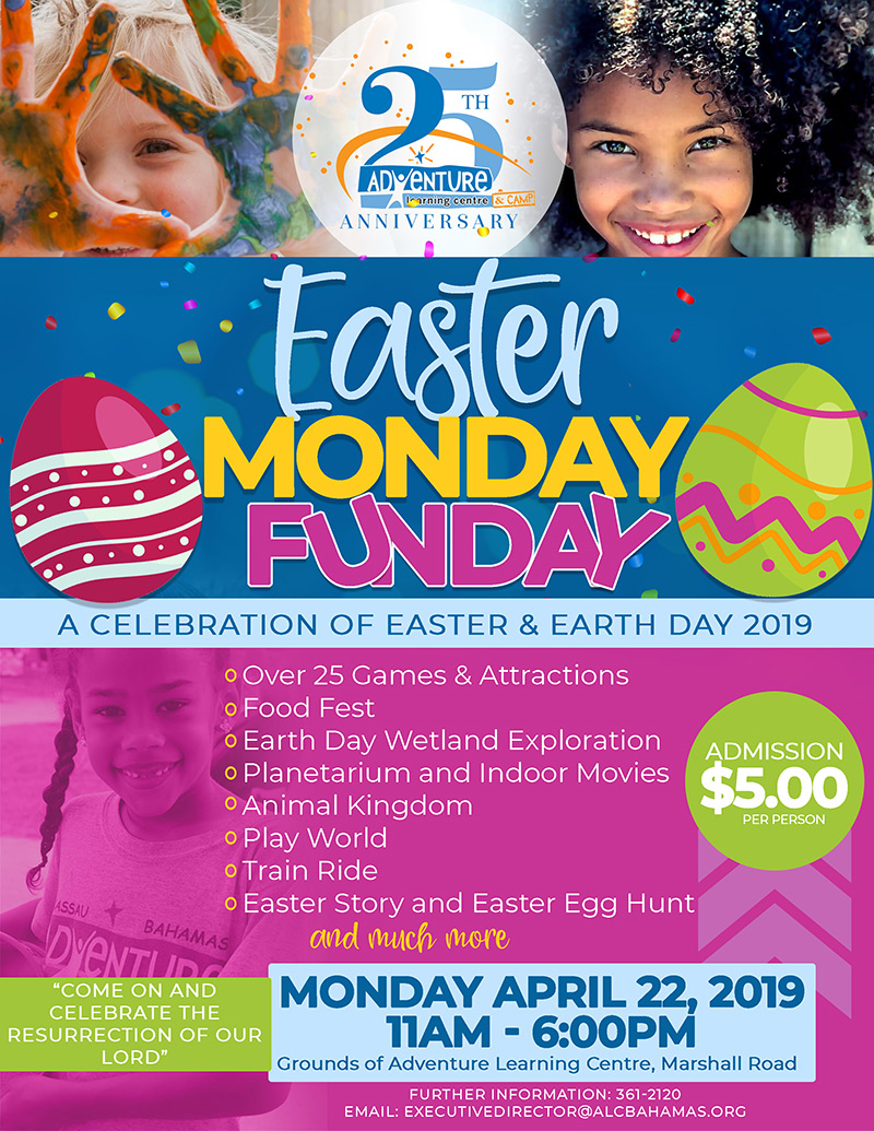 This year we celebrate Easter & Earth Day during our Easter Monday Fun Day 2019.