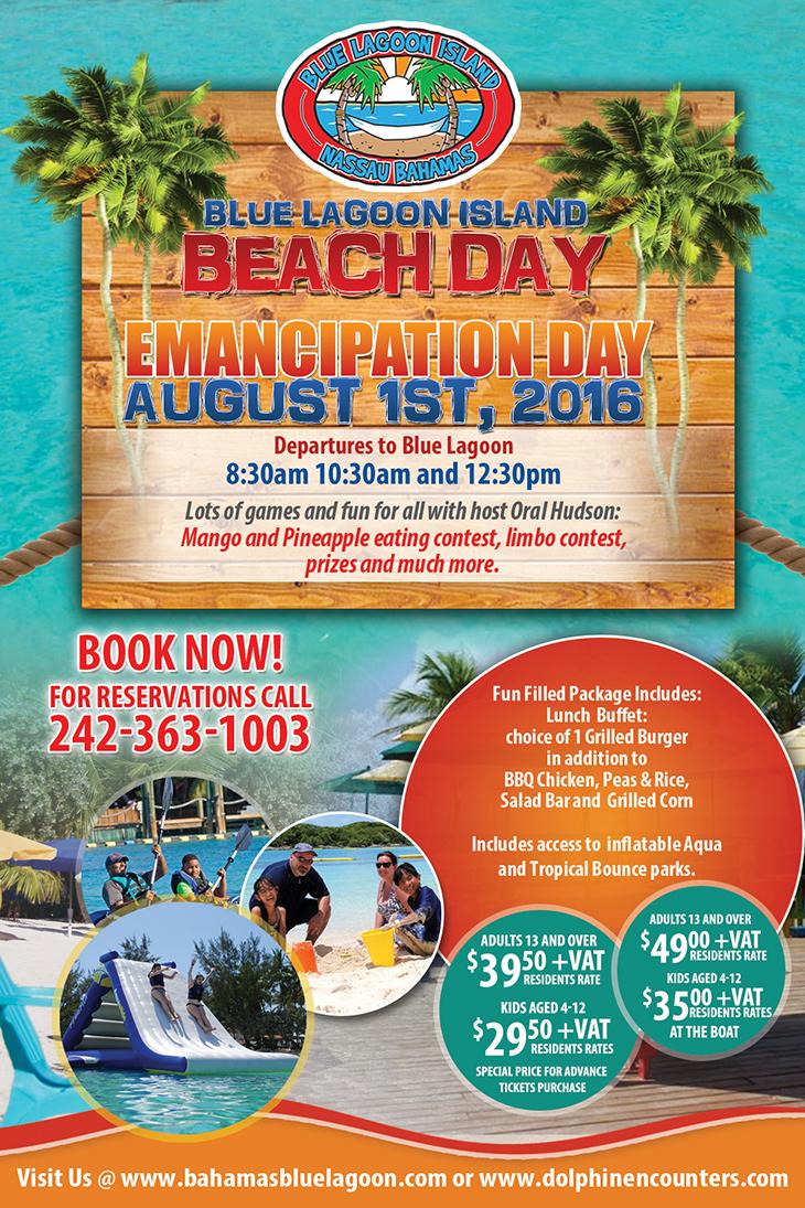 Blue Lagoon Island Beach Day Emancipation Day!