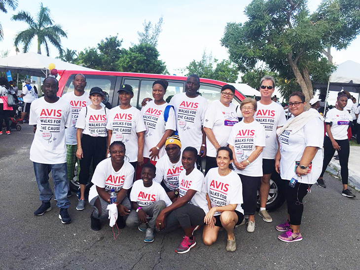Avis Car Rental And Sales | Team AVIS BAHAMAS Walks for the Cure