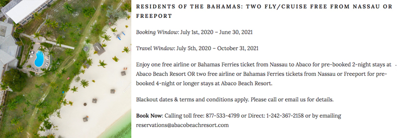 RESIDENTS OF THE BAHAMAS - TWO FLY/CRUISE FREE FROM NASSAU OR FREEPORT