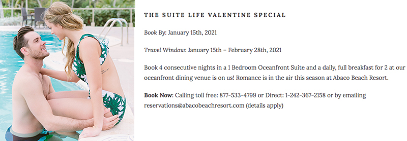 THE SUITE LIFE VALENTINE SPECIAL