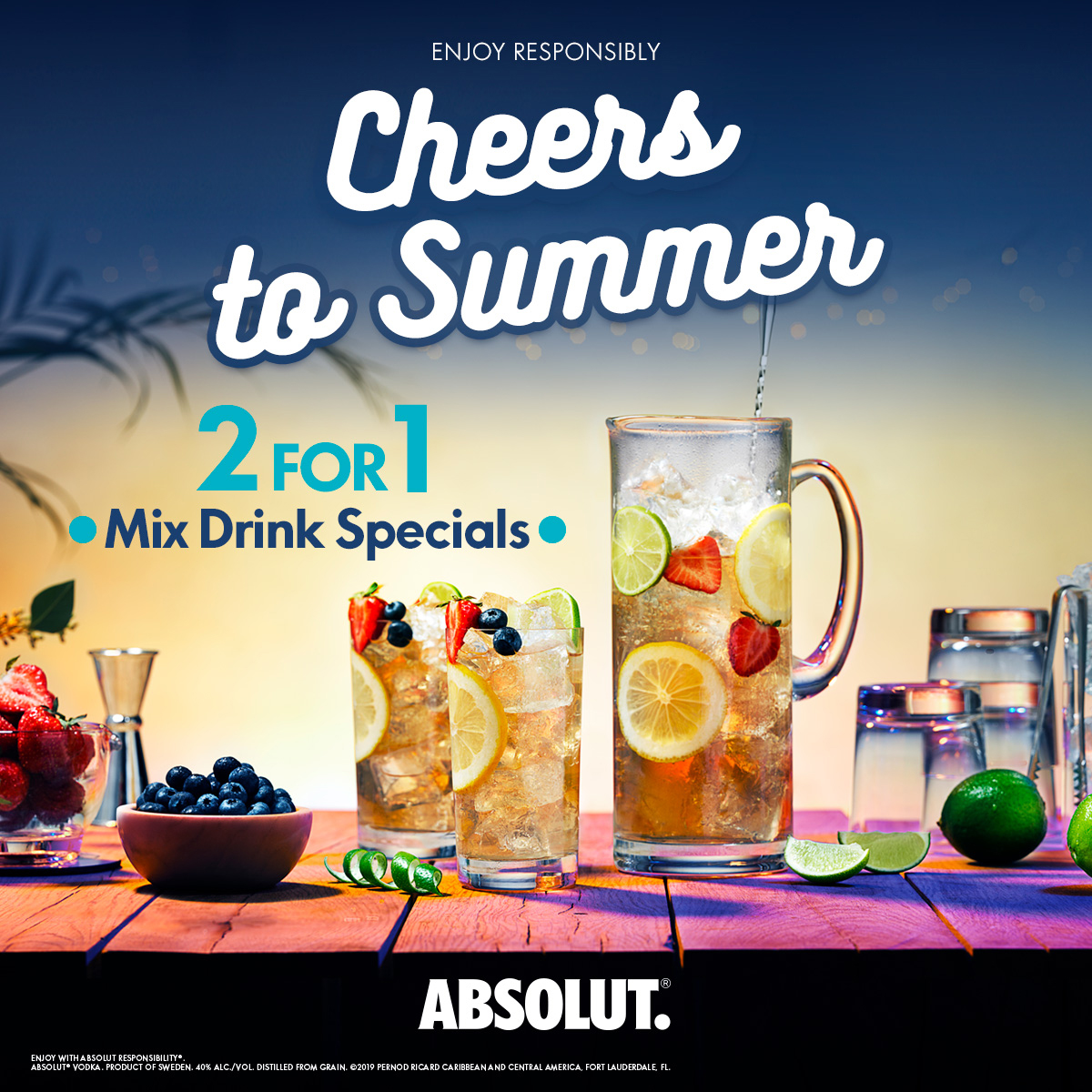 Absolut. Cheers To Summer