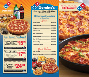 Domino's Pizza Regular Menu