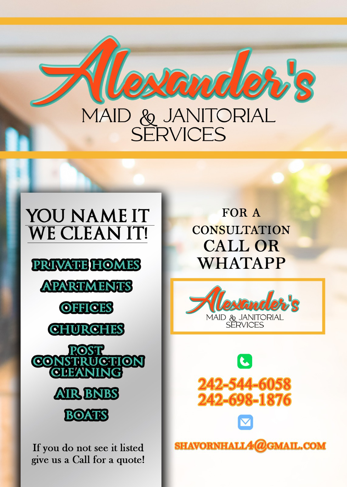 Alexander's Maid and Janitorial Services