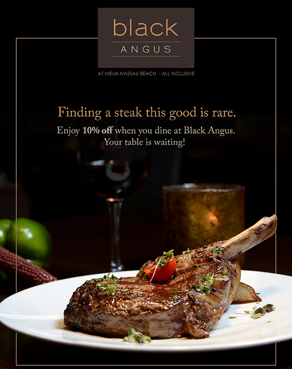 Black Angus. Finding A Good Steak Is Rare.