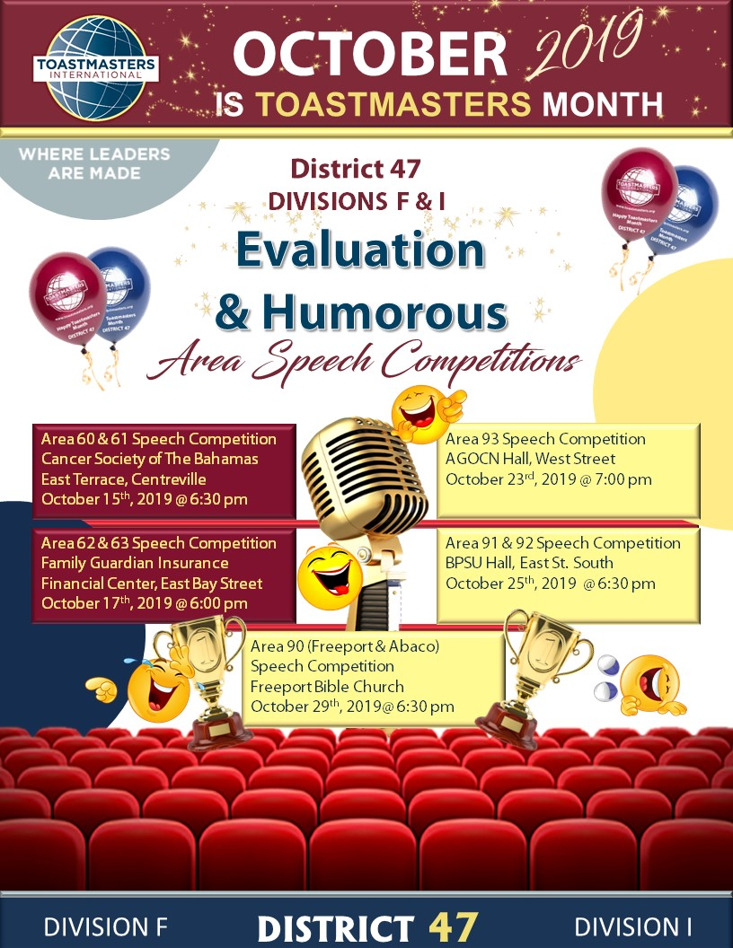 Toastmasters Evaluation & Humorous Area Speech Competition