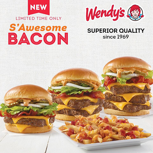 BRAND NEW S'Awesome Bacon Burger at Wendys