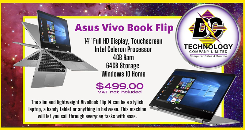 This and so much more in store at both locations stop in today! - Asus Vivo Flip Book at DC Technology