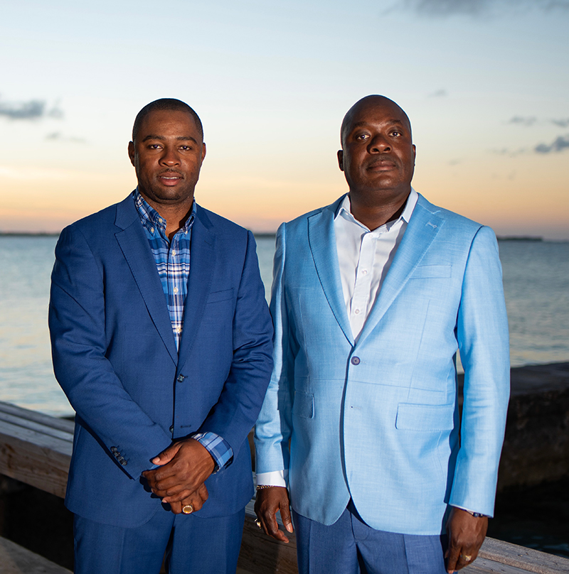 Bahamas Striping founders, Atario Mitchell and Dominic Sturrup celebrated the company's 11th anniversary in May with a small gathering of staff, well-wishers and members of its Board of Directors. Photo courtesy of BSGC via Precision Media.