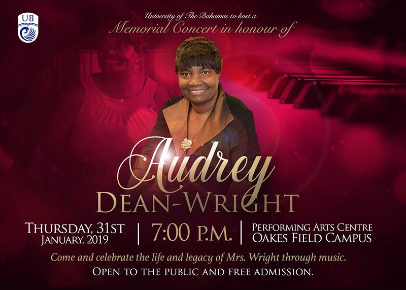 University of The Bahamas Memorial Concert In Honour Of Audrey Dean-Wright