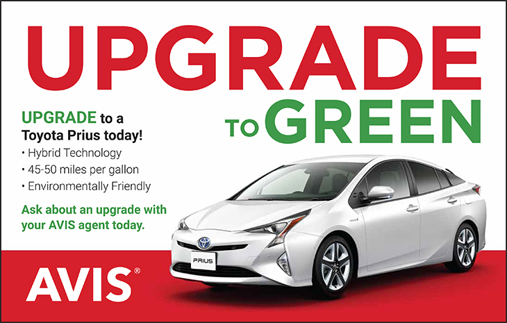 Avis Car Rental And Sales | Upgrade To Green