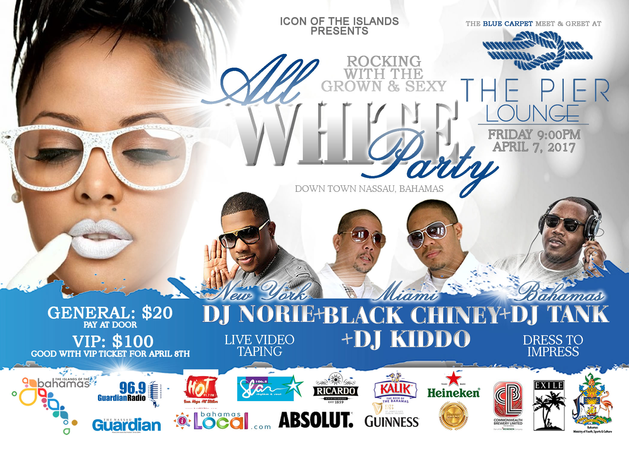 Icon of The Islands | ALL WHITE PARTY