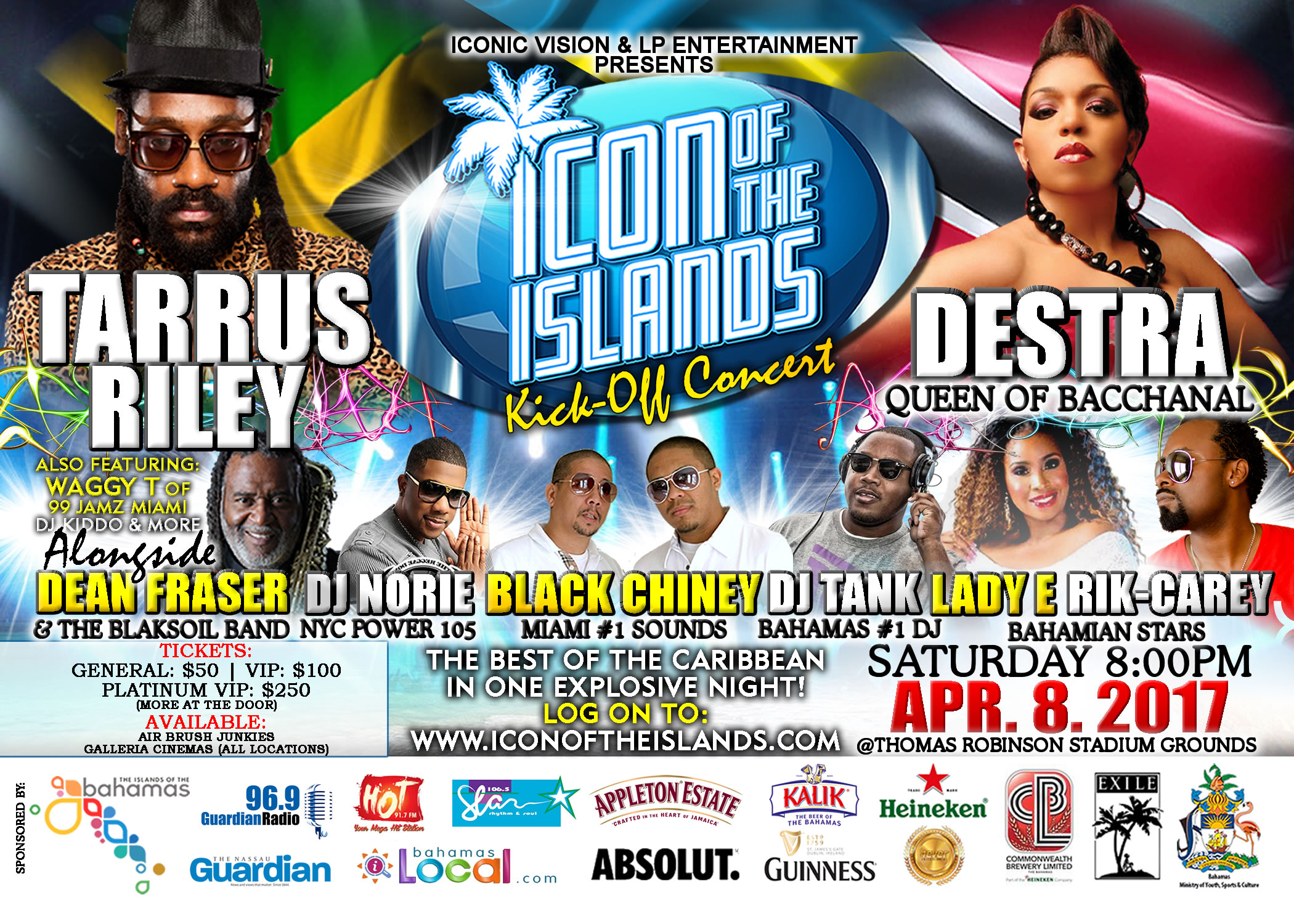 ICON of the Islands Kickoff Concert featuring Destra and Tarrus Riley