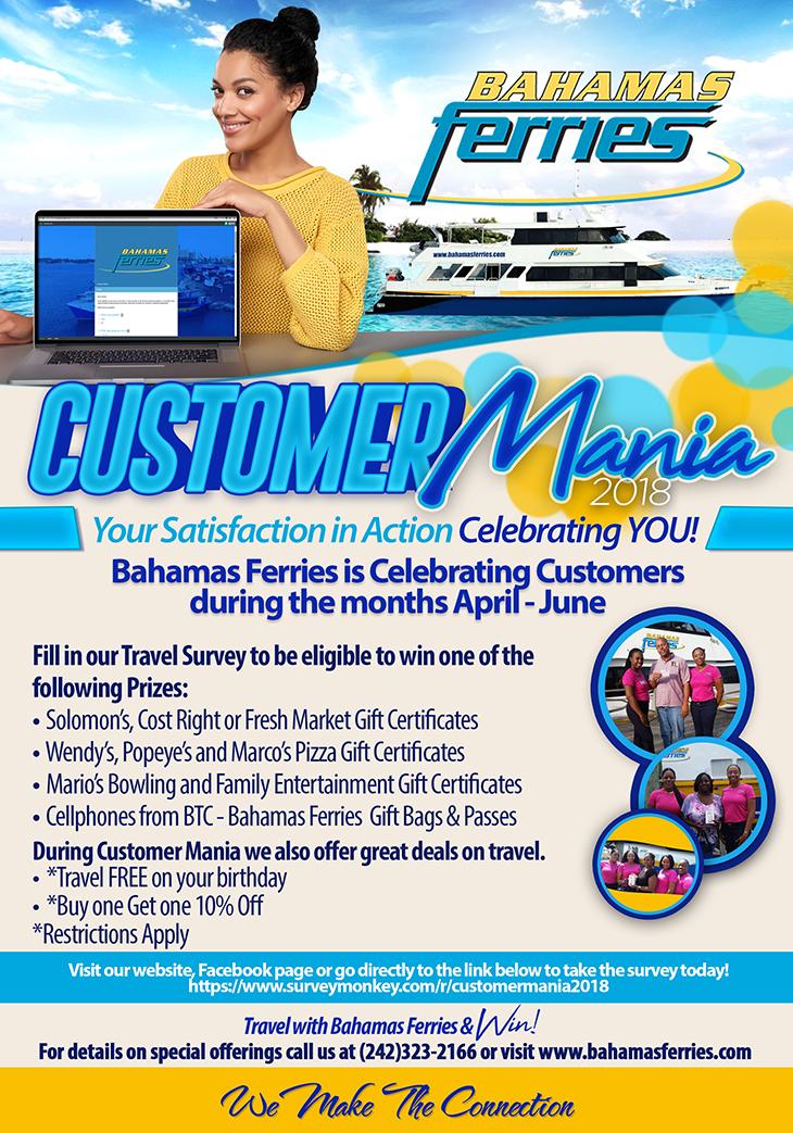 Bahamas Ferries Customer Mania 2018