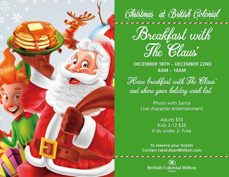 British Colonial Hilton Nassau Presents Breakfast With Claus