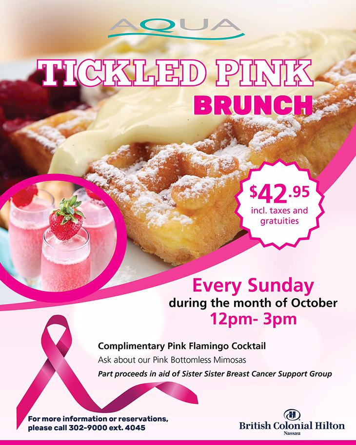 British Colonial Hilton | Tickled Pink Brunch at AQUA