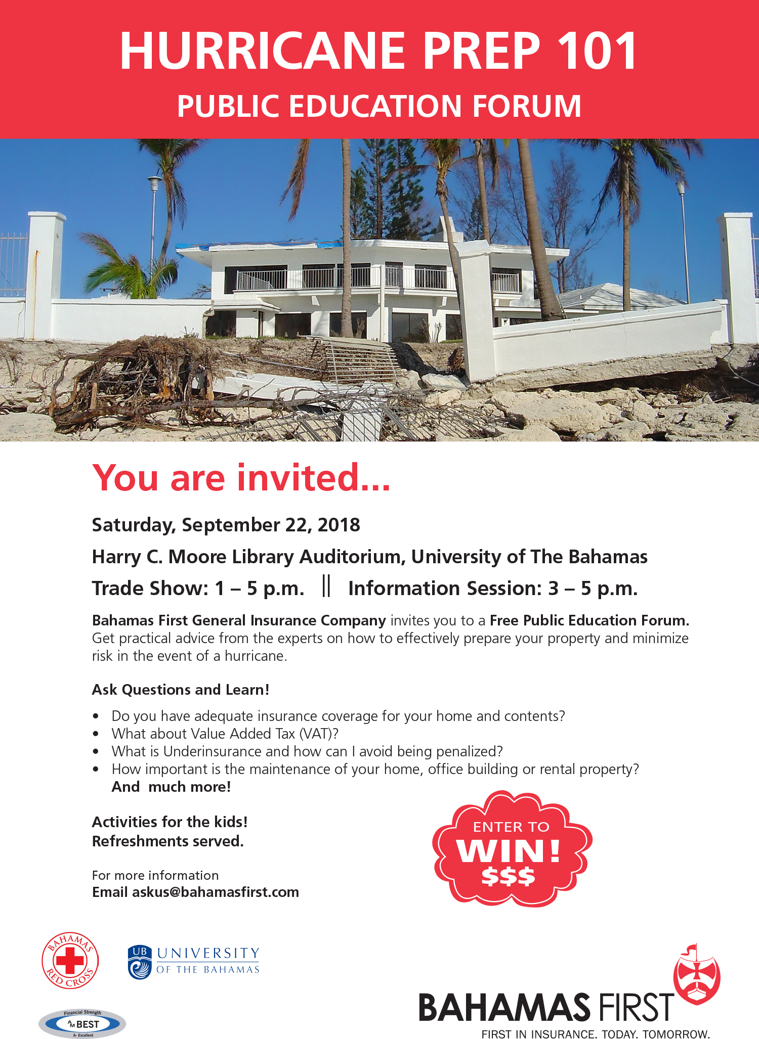 Hurricane Prep 101 - Free Public Education Forum Hosted by Bahamas First General Insurance Co.