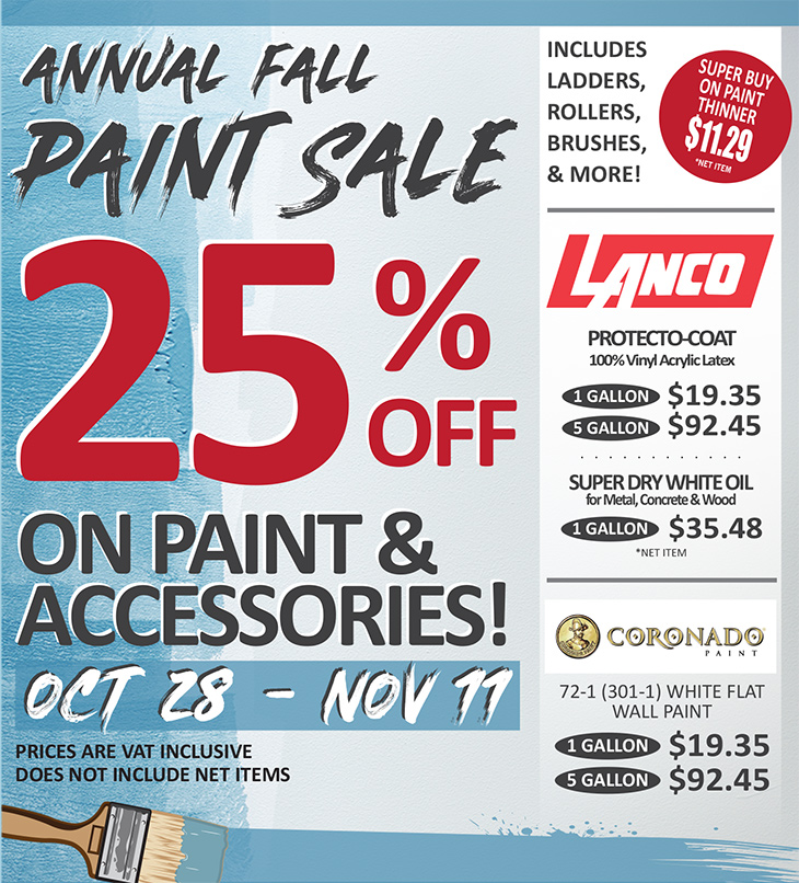 AT TOPS and JBR | Anniversary and Annual Paint Sale