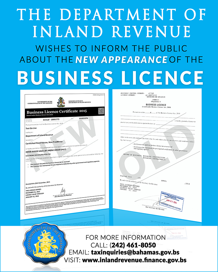 The Department of Inland Revenue New Business Licence