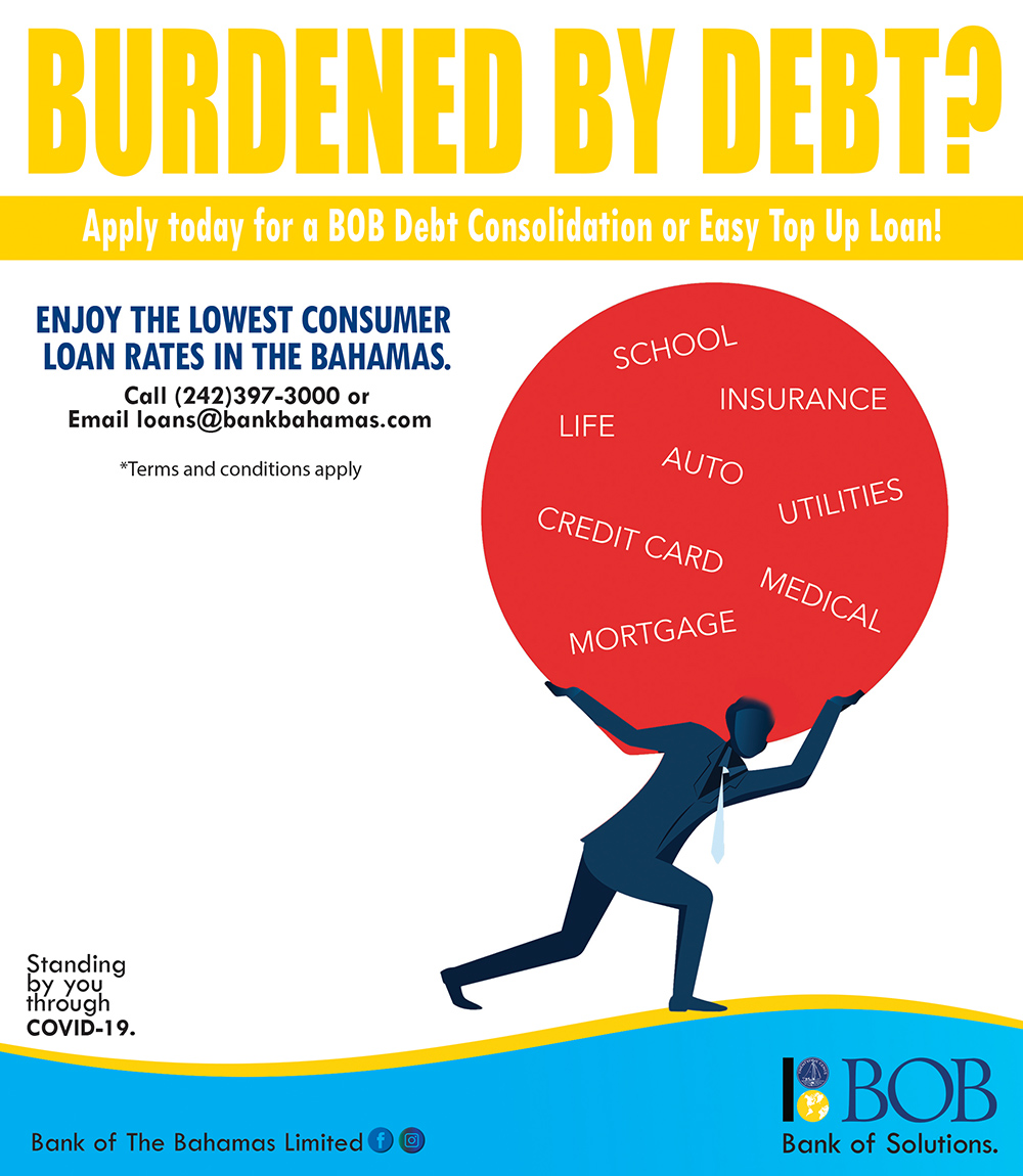 Burdened By Debt? Let Bank of The Bahamas Help You!