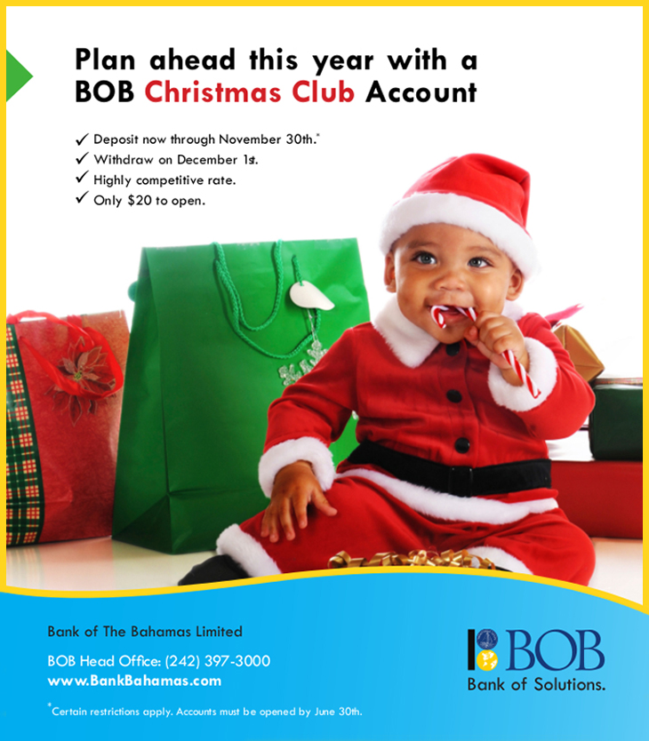 Bank Of The Bahamas Limited Christmas Club Account