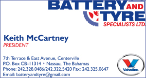 Keith McCartney at Battery and Tires