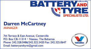 Darren McCartney at Battery and Tires