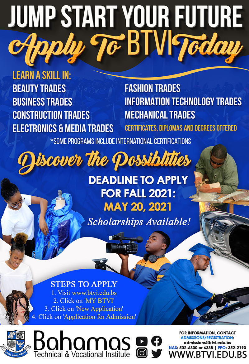 Jump Start Your Future Apply at Bahamas Technical & Vocational Institute