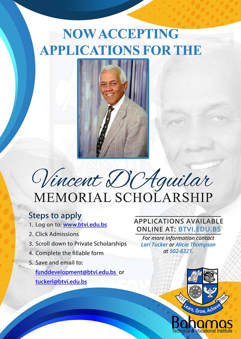 DAguilar-Scholarship at Bahamas Technical & Vocational Institute (BTVI)