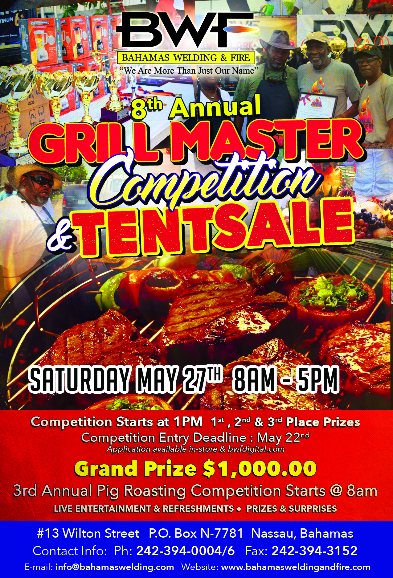 8th Annual Grill Master Competition and Tent Sale