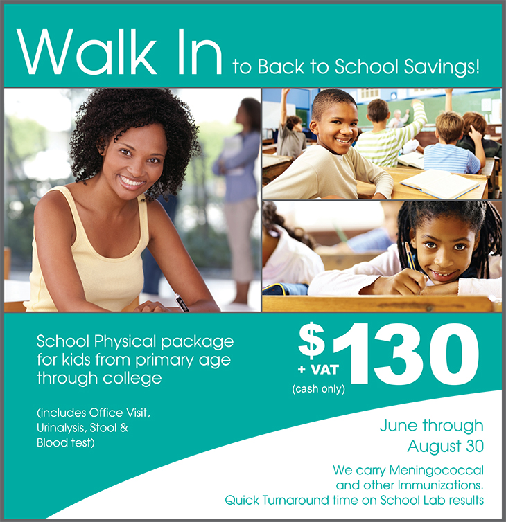 Walk-In Medical Clinic Back To School