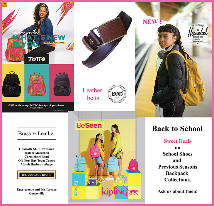 Back To School Brands at Brass and Leather. Totto School Bags. LAND Leather Belts. Hershel Backpacks. Kipling Backpacks. Sweet back to school deals on school shoes.