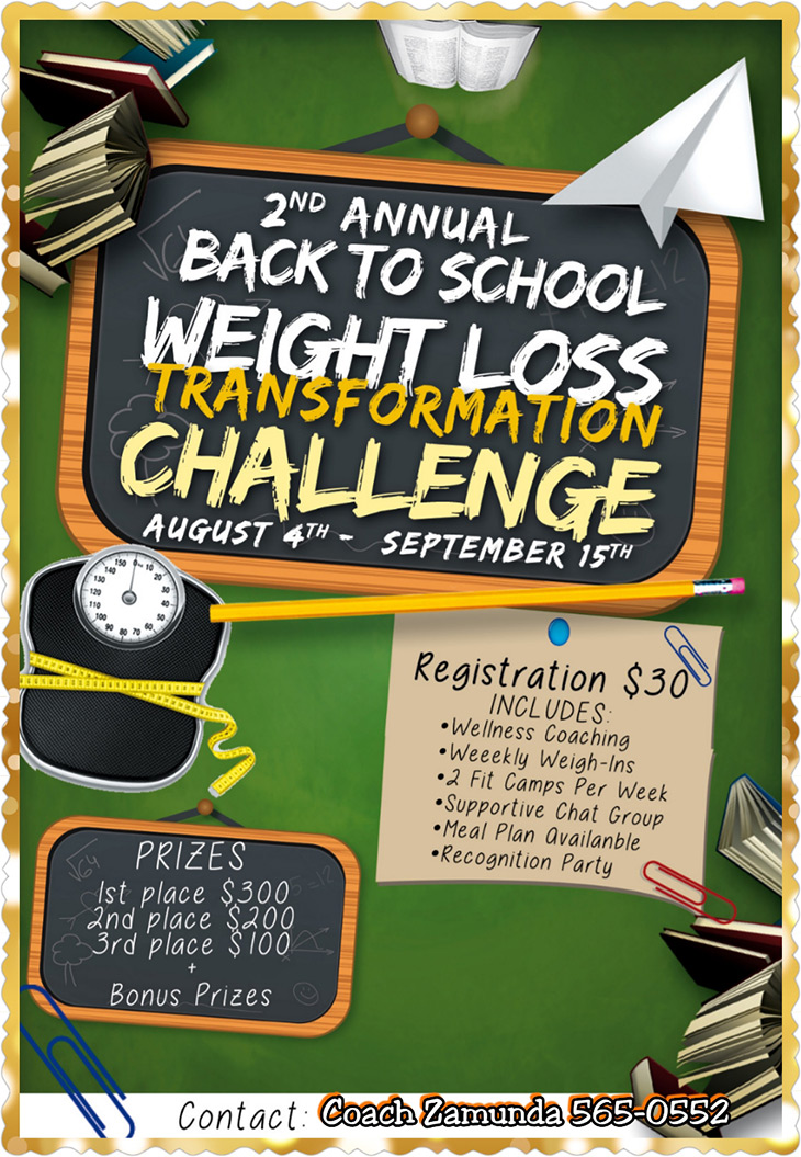 Zamunda Fitness Back 2 School Challenge Challenge