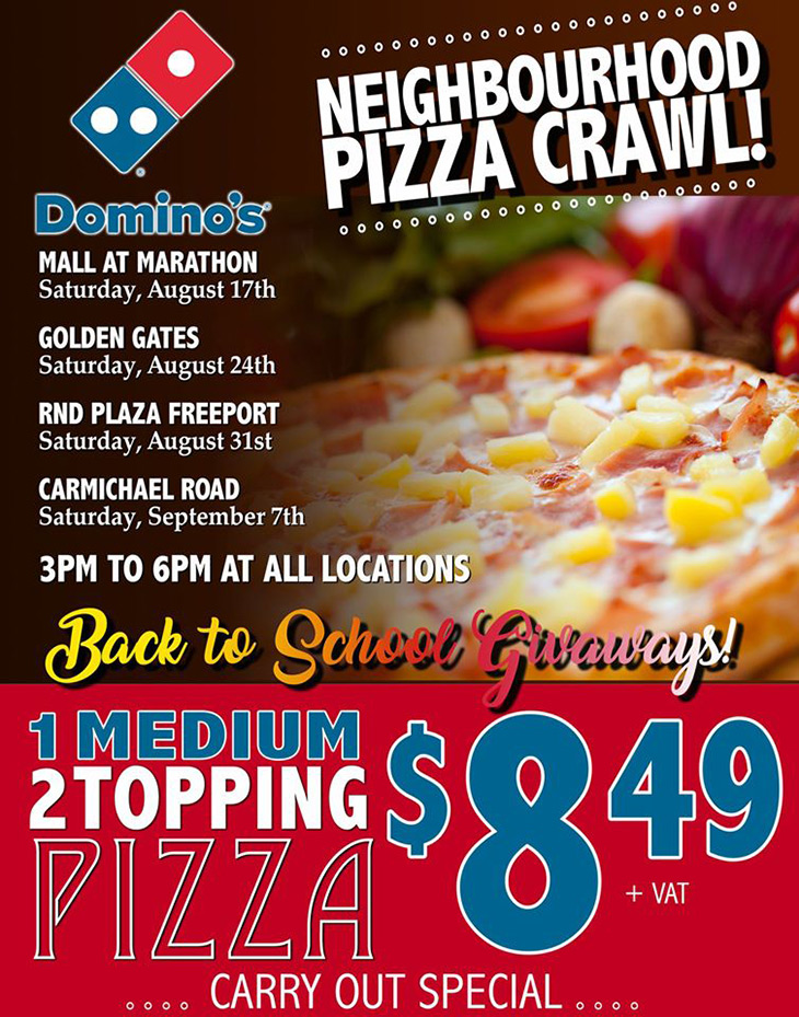 Get Ready For Domino's Pizza Neighborhood Crawl!add