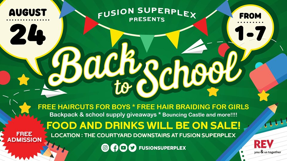 Back to School event at Fusion Superplex