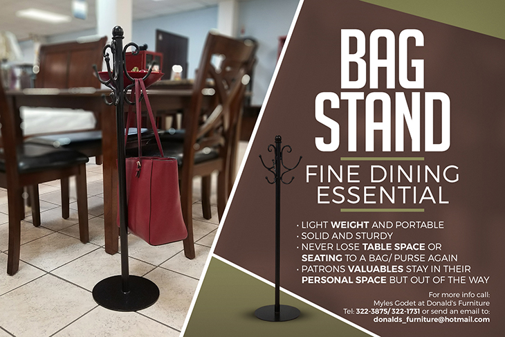 Donalds Furniture | Take a look at our bag stands