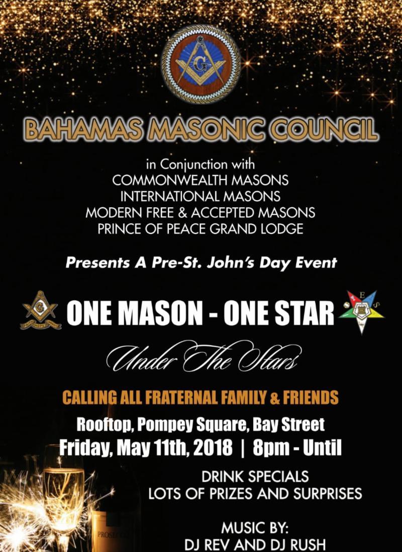 2fa33fa497 One Mason - One Star Under the Stars Hosted by Bahamas Masonic Concil