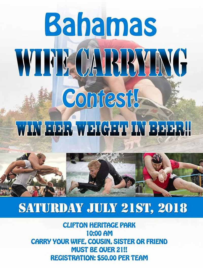 Bahamas Wife Carrying Contest