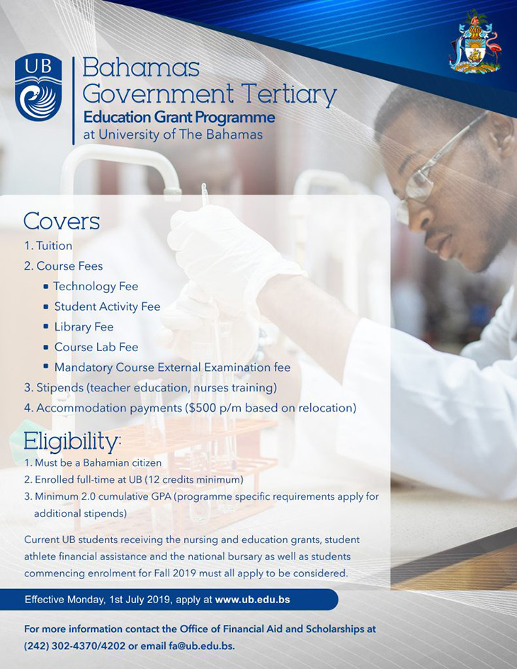 Bahamas Government Tertiary Education Grant Programme