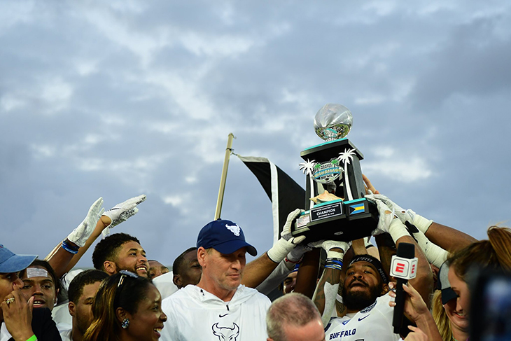 Buffalo captures first bowl victory with 31-9 win over Charlotte in the 2019 Makers Wanted Bahamas Bowl.