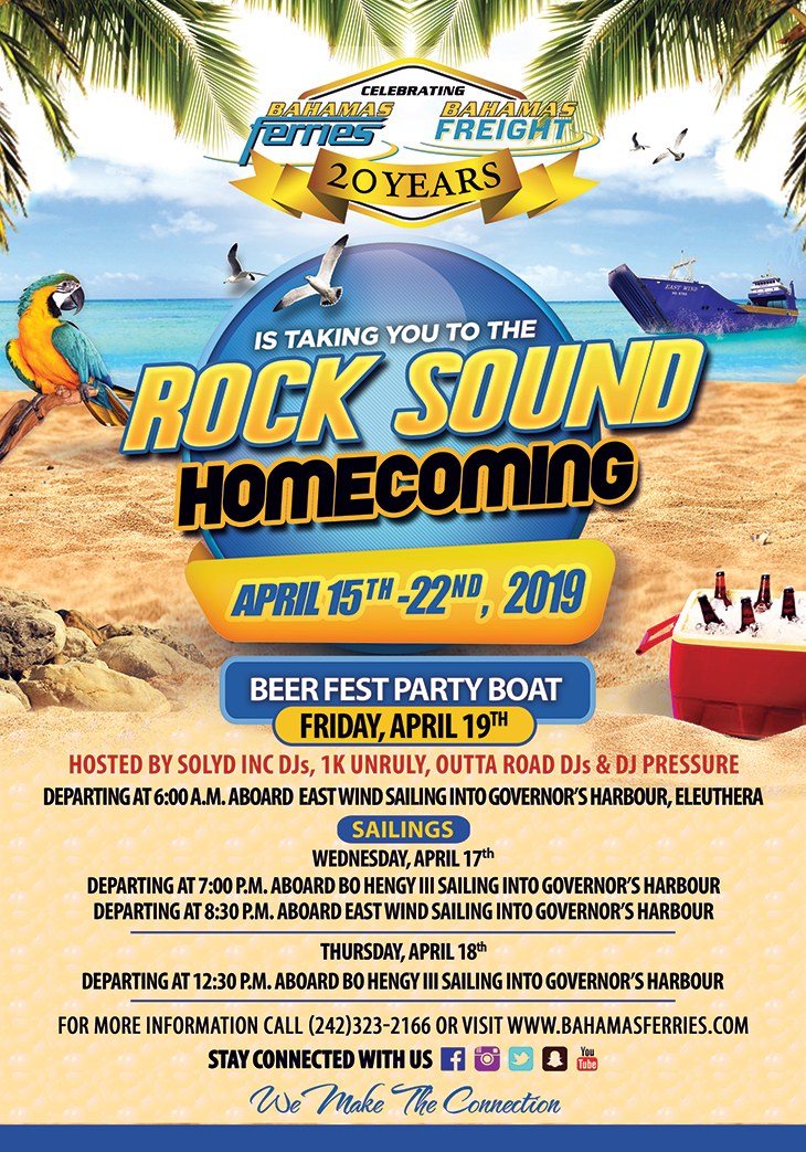 Bahamas Ferries Is Taking You To Rock Sound Homecoming