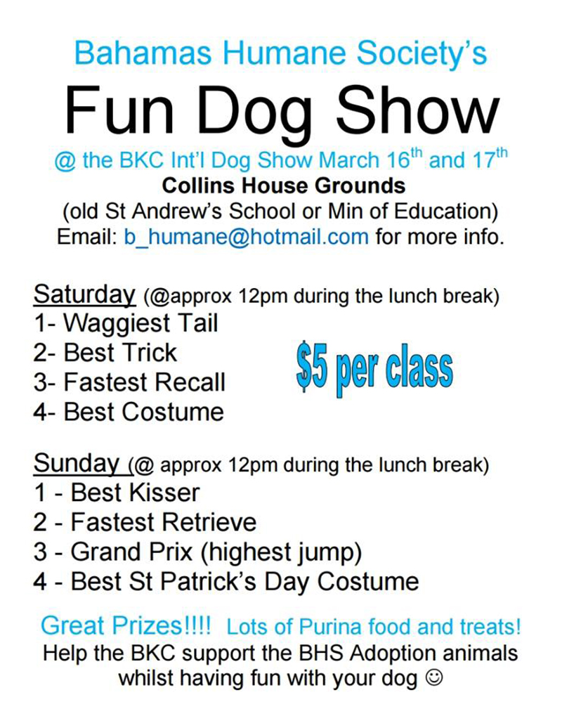 Bahamas Kennel Club Dog Show