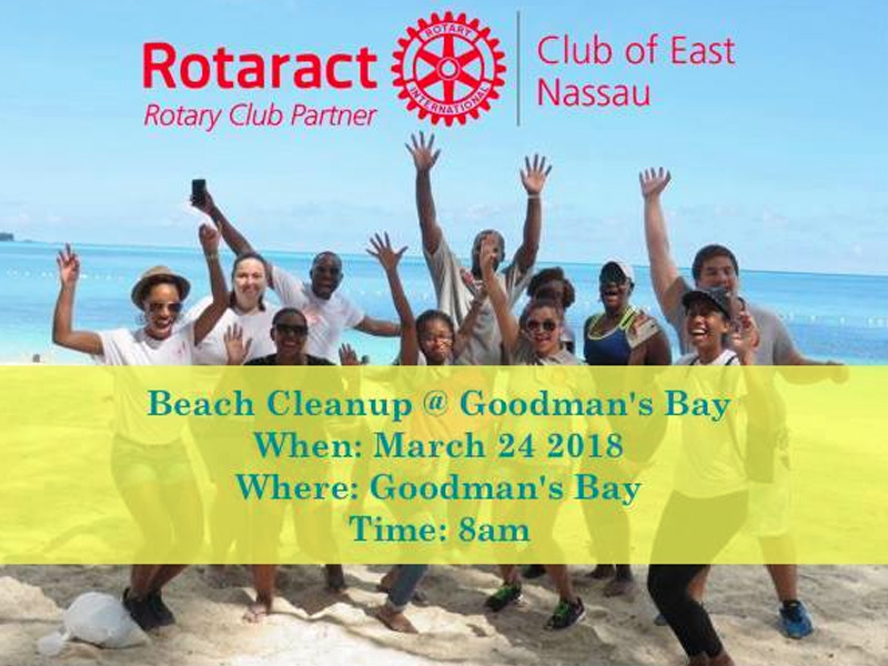 Underwater Beach clean-up at Goodman's Bay Hosted by The Rotaract Club of East Nassau