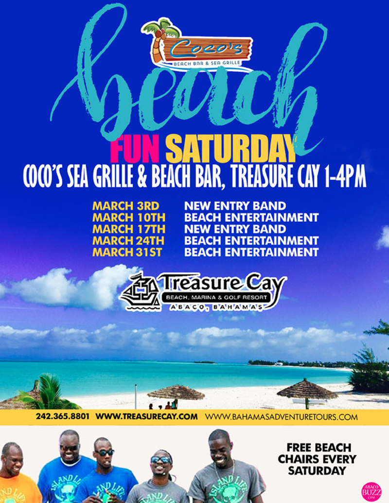 Beach Fun Saturday at Coco Beach Bar and Sea Grille
