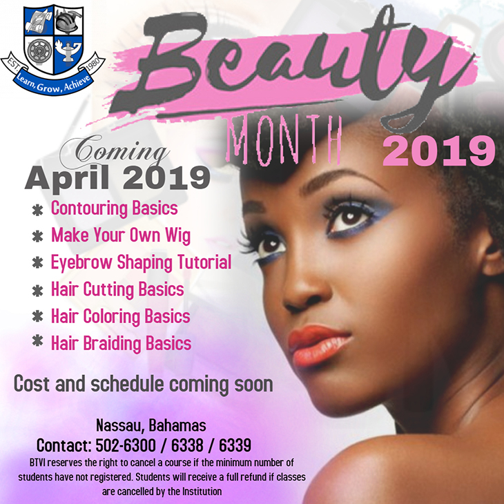 Bahamas Technical & Vocational Institute (BTVI) Beauty Month 2019